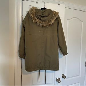 Forever 21 Jackets & Coats - Green Parka with Hoodie